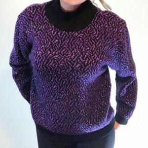 Vintage knit turtleneck sparkly sweater